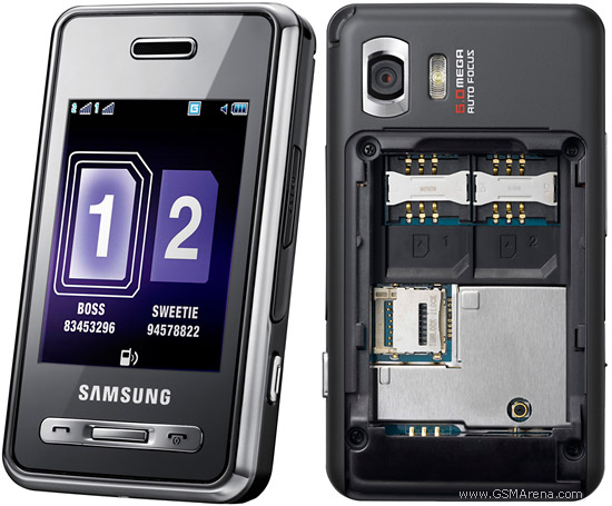 Samsung D980 Dual Sim Price in Indian Rupees