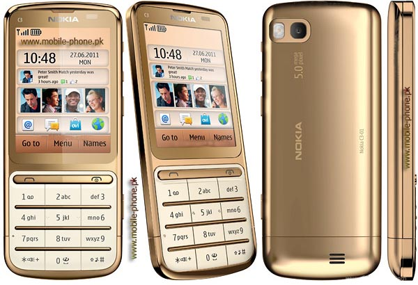 Nokia C3-01 Gold Edition cell phone photo