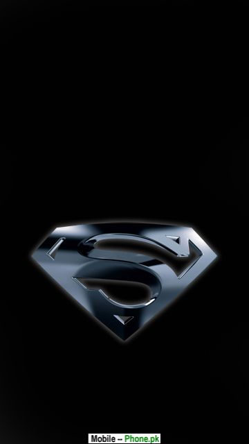 Black superman logo Wallpaper for Mobile