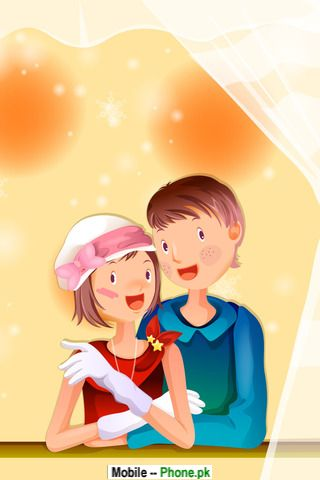 cartoon couple wallpapers mobile pics