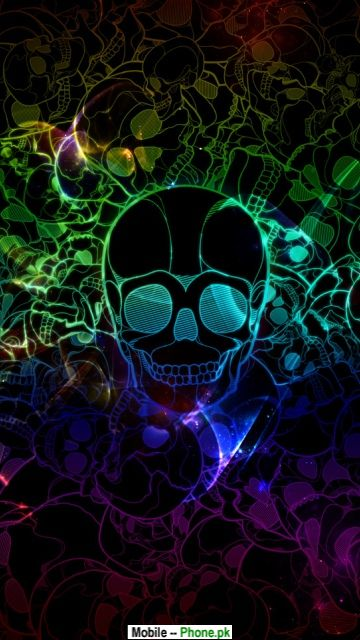 Colored skull Mobile Wallpaper Details
