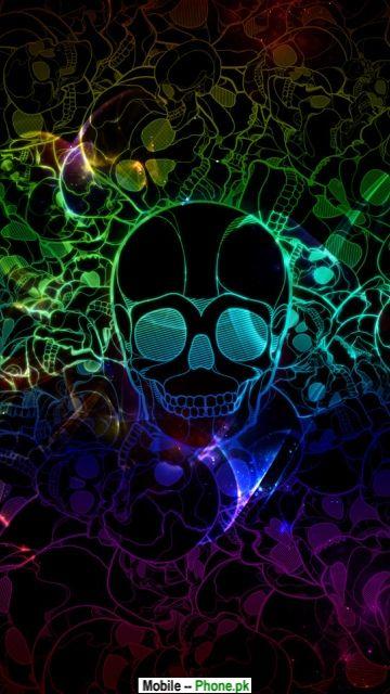 Colored skull Wallpape...