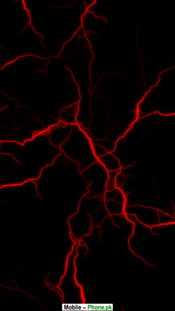 Dark clouds with red lightning Wallpapers Mobile Pics