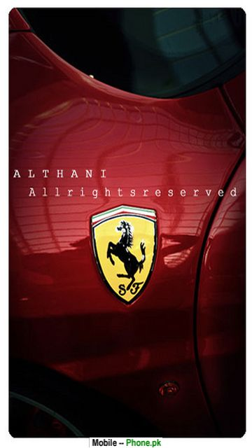 Ferrari logo png Wallpaper for Mobile