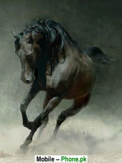 Horse Running Animals Mobile Wallpaper