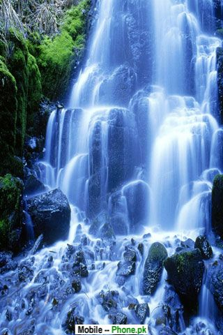 Nature Picture Wallpaper on Jungle Waterfall Nature Mobile Wallpaper Jpg