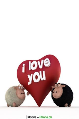 Love Images Animated On Cartoons 3d Graphics Mobile Wallpaper Jpg