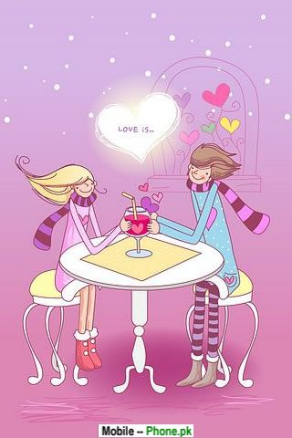 Love cartoon Wallpaper For Mobile : Love cartoon Wallpapers Mobile Pics