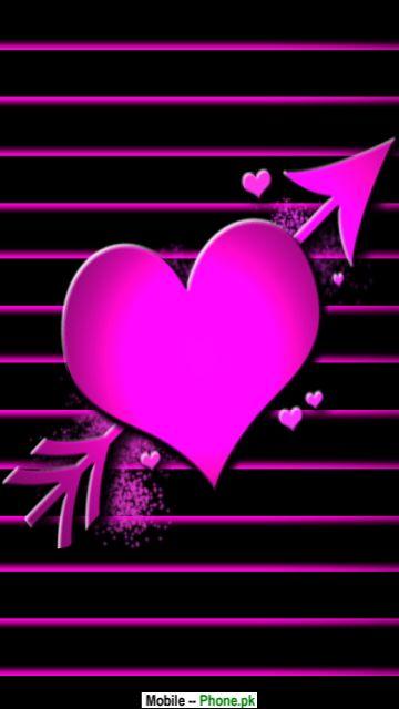 Pink Broken Heart Mobile Wallpaper Details
