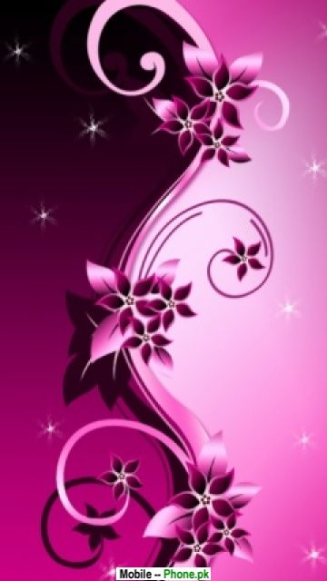 Pink flower backgrounds Mobile Wallpaper Details
