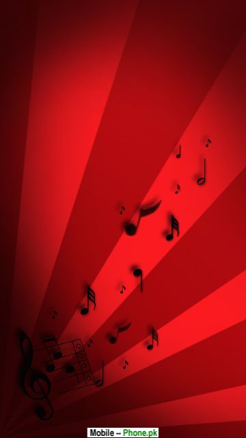 wallpaper music notes. Red music notes Wallpaper for