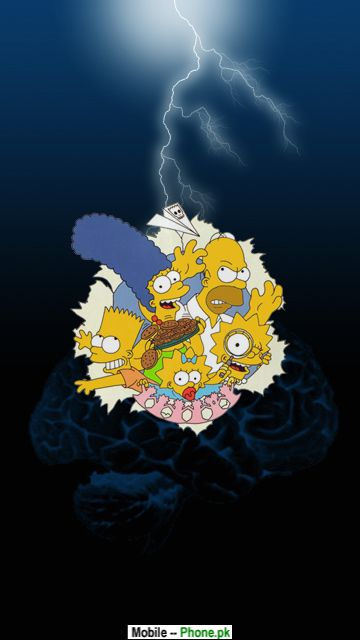 Simpsons Characters Animated Mobile Wallpaper Jpg