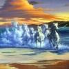 3d horse wallpaper 3D Graphics 176x220