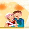 cartoon couple Holiday 320x480