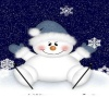 cute snowman background Holiday 320x480