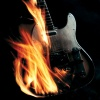fire guitar Music 320x480
