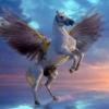Flying horse wallpaper Animals 176x220