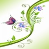 green flower background HD 360x640