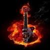 guitar fire image Music 360x640