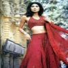 Model in Red Dress Bollywood 290x400