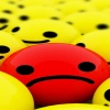 red sad smiley face HD 360x640