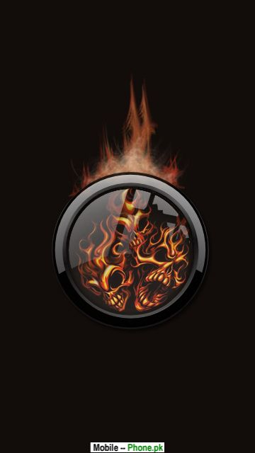 skull fire logo HD 360x640