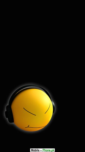 Smile Music Animated Mobile Wallpaper