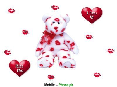 Teddy Bear Love Heart Wallpaper for Mobile
